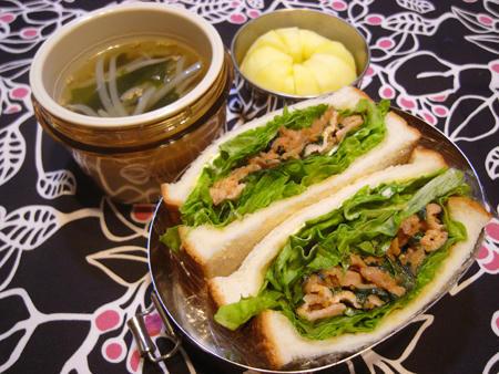 韓国焼肉風サンド弁当