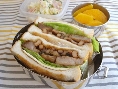 烏賊豚サンド弁当