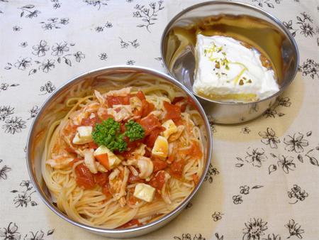 冷製トマトチキンパスタ弁当