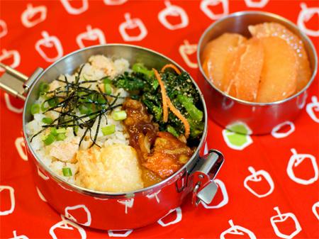明太バターの炊込みご飯弁当