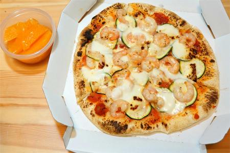 ズッキーニと海老のピザ弁当「