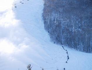 ルスツのスキー場は中級天国