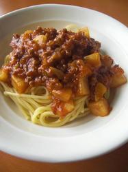 ポテトミートソーススパゲティ