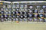 カルフール内テレビ