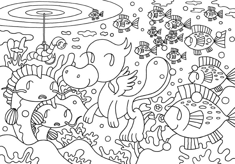 Advanced Underwater Coloring Pages