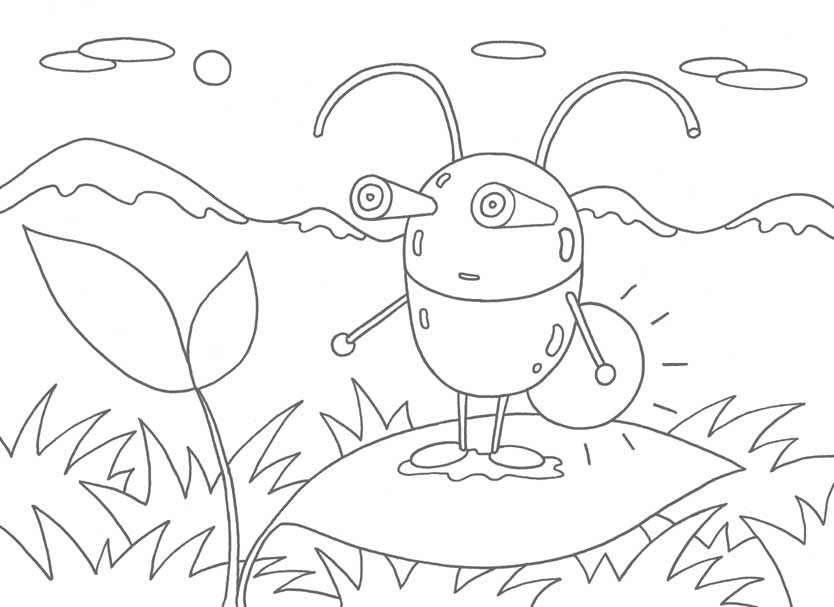 恐竜キャラクター塗り絵: 無料 ... : キャラクターぬりえプリントアウト : プリント