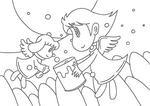 「天使のイラスト」 シリーズ.5 「覗いてごらん?」