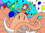 「ピエロのイラスト」 シリーズ.6 「楽しいサーカス」