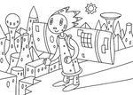 「ロボットのイラスト」 シリーズ.3 「飛行準備」