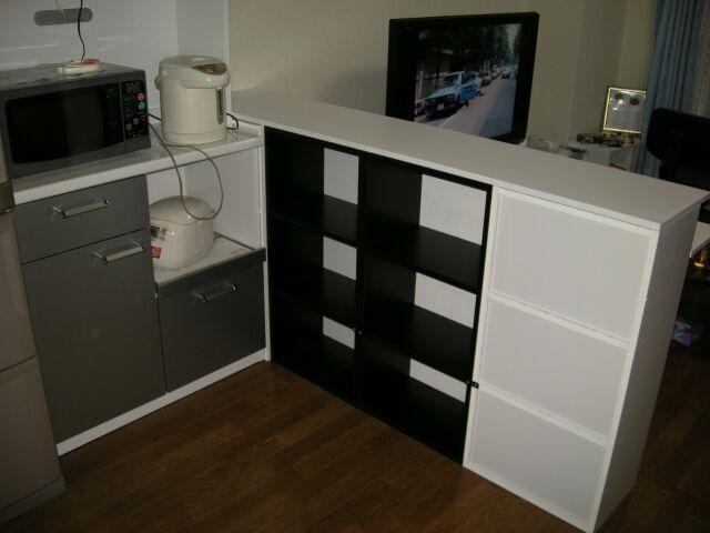 キッチン ikea キッチン 収納 ブログ : カラーボックスDIYで作る収納 ...