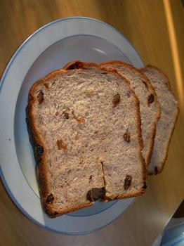 ぶどうジュースのぶどうパン