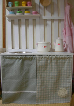 ままごとキッチンのカーテン