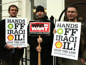hands off iraq oil