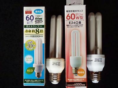100円ショップ電球型蛍光灯