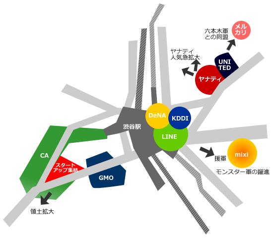 渋谷IT界隈地図