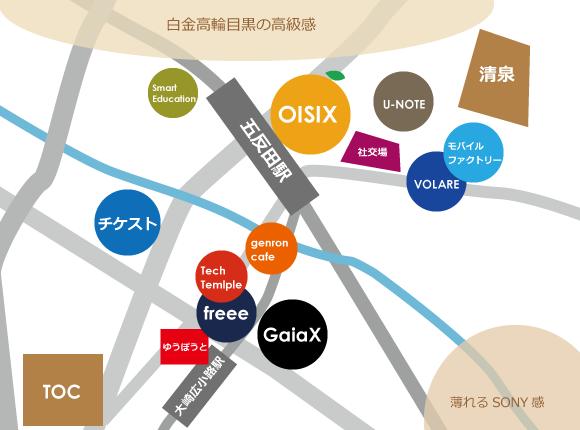 五反田界隈IT企業地図