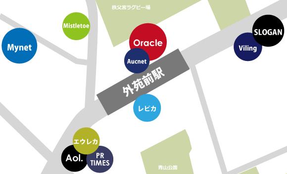 外苑前ネット系ベンチャー地図