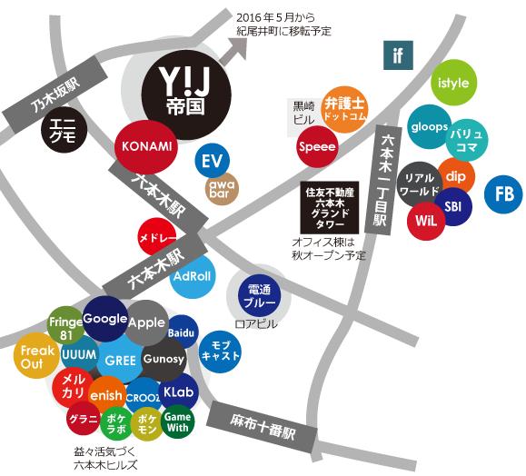 六本木ネット企業地図2016年