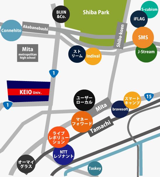 田町、三田ネット系地図