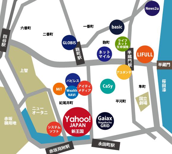 紀尾井町ネット系ベンチャー地図
