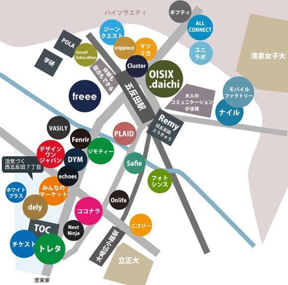 五反田ネット系ベンチャー地図2017年夏