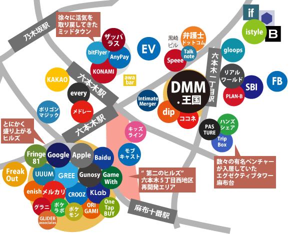 六本木ネット系ベンチャー地図2018春