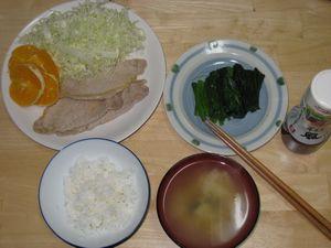 ダイエット3日目夕食