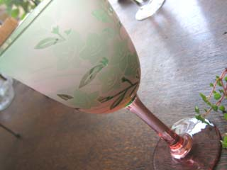 Tetto Art School・サンドブラストワイングラス