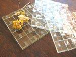 Tetto Art School・フュージング透明ガラスのトレイ
