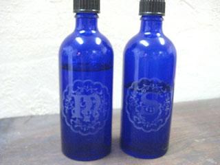 Tetto Art School・サンドブラストガラス瓶