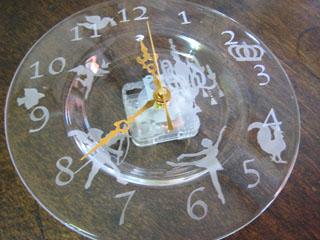 Tetto Art School・サンドブラスト時計