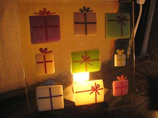 Tetto Art School・クリスマスプレゼントのガラスランプ