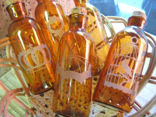 Tetto Art School・サンドブラストガラス小瓶