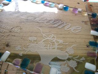 Tetto Art School・ガラスのウェルカムボード