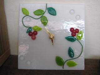 Tetto Art School・ガラスフュージング時計