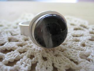 Tetto Art School・シルバークレイガラスのリング