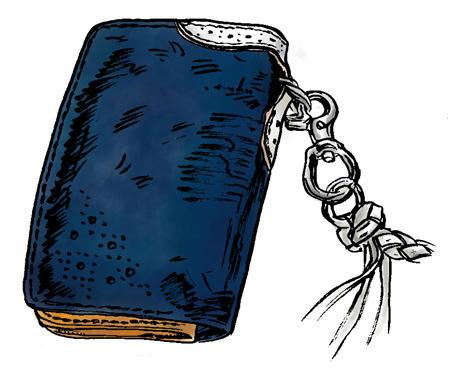 蒼革の財布