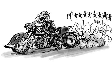 変なバイク
