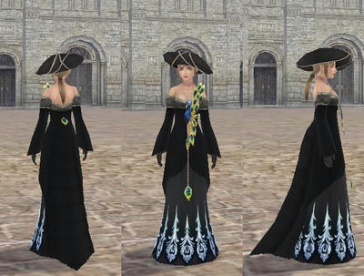 孔雀のドレス_黒