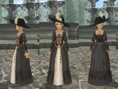 黒ジョーゼット製ドレス
