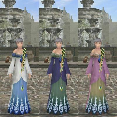 孔雀のドレス
