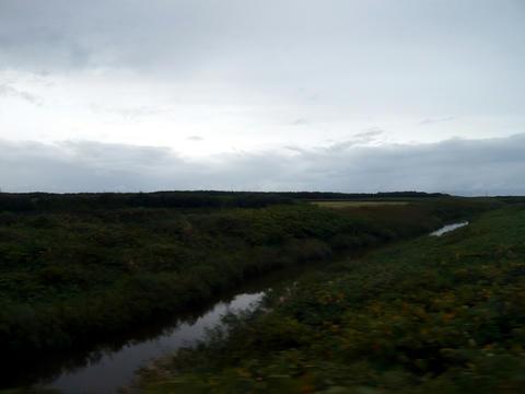 宗谷本線沿線の丘陵地帯