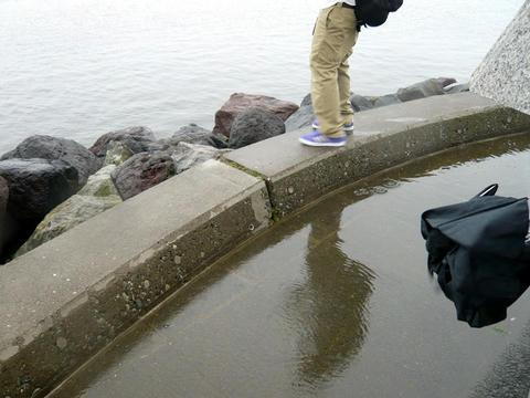 日本最北端の碑の裏側
