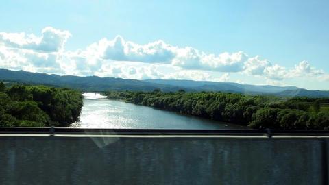名寄美深道路から望む天塩川