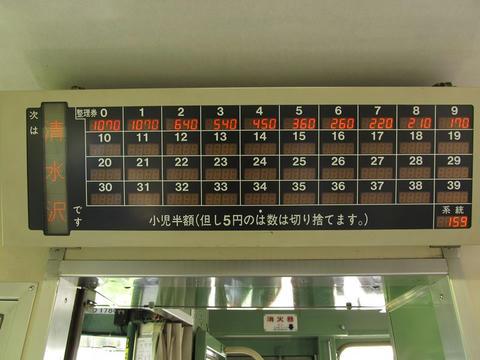 キハ40 1780・運賃表@清水沢駅