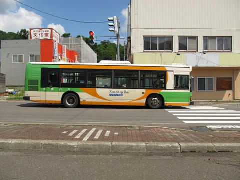 夕鉄バスA-E402号車@清水沢駅前