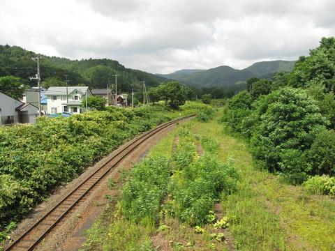 石勝線夕張支線夕張方面@清水沢駅
