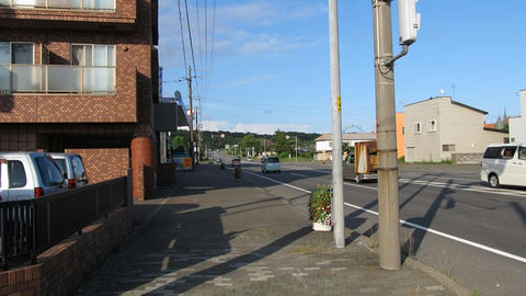 国道36号札幌方面@登別駅前
