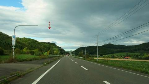 道道244号遠軽芭露線沿線風景@湧別町