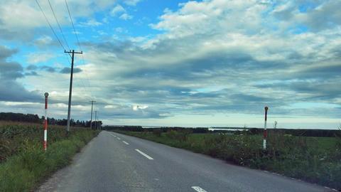 キムアネップ岬への町道